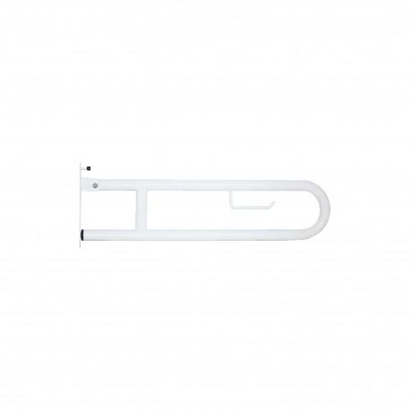 Barre relevable wc pour personnes à mobilité réduite - inox 304 epoxy blanc
