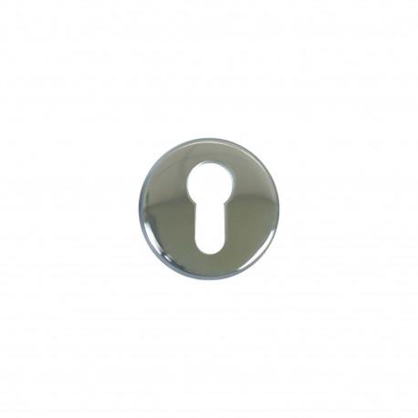 Rosaces rondes à cylindre - inox 304 brillant x2
