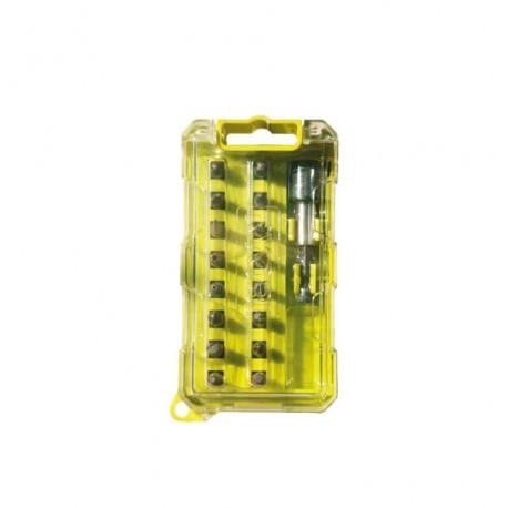 Coffret RYOBI 17 accessoires de vissage couleur RAK17SDC