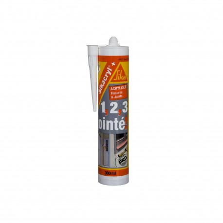 Mastic acrylique SIKA Sikacryl Plus - Blanc - 300ml