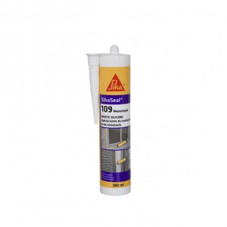 Mastic silicone SIKA Sikaseal 109 Menuiserie - Blanc PVC - 300ml