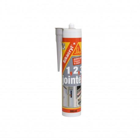 Mastic acrylique SIKA Sikacryl Plus - Gris - 300ml