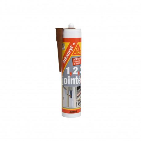 Mastic acrylique SIKA Sikacryl Plus - Acajou - 300ml