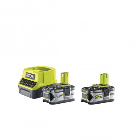 Pack RYOBI 18V OnePlus LithiumPlus - 1 batterie 4.0Ah - 1 chargeur rapide 2.0Ah RC18120-140 - 1 batterie 5.0Ah RB18L50