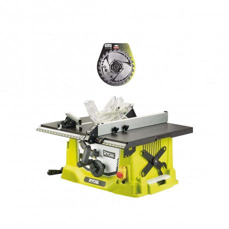 Pack RYOBI Scie sur table électrique 1800W 254mm RTS1800-G - lame carbure 254mm 24 dents SB254T24A1