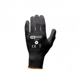Boîte de 12 paires de gants KS TOOLS - Microfibres - Noir - Taille M - 310.0324