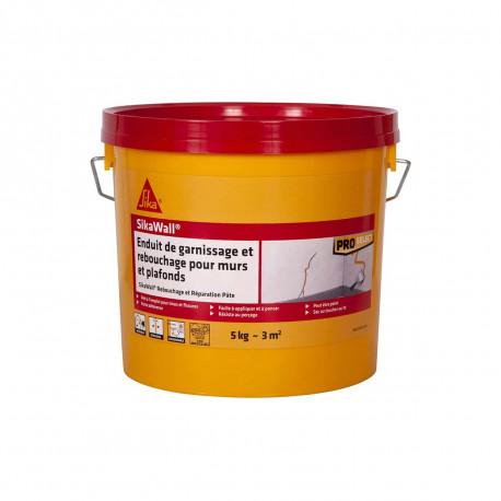 Enduit de garnissage SIKA SikaWall Rebouchage et réparation pour murs et plafonds - 5Kg