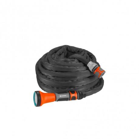 Kit tuyau d'arrosage textile Liano 15 m GARDENA - 18430-20