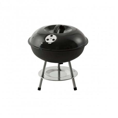 Barbecue avec couvercle et pieds - Métal - Diamètre 35,5 cm