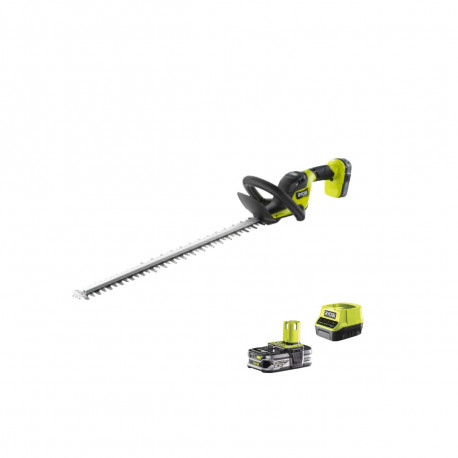 Taille-haies RYOBI 18V OnePlus HP Brushless - 1 batterie LithiumPlus 18V 2,5 Ah - 1 chargeur rapide 2,0 A- RY18HTX60A-125
