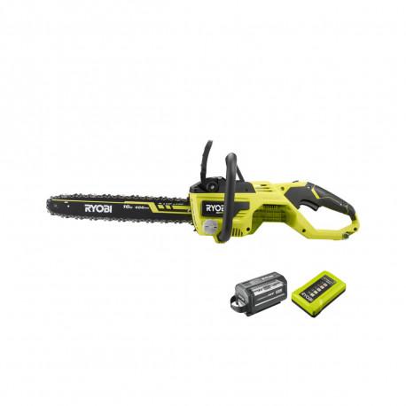 Tronçonneuse RYOBI 36V Brushless - 1 batterie LithiumPlus 36V 6,0 Ah High Energy - 1 chargeur rapide 1,7 A - RY36CSX40B-160