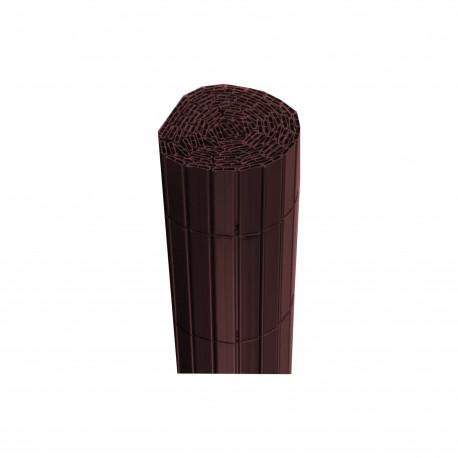 Canisse JET7GARDEN 1,2x2,5m - Bois noyer - PVC - Double Face