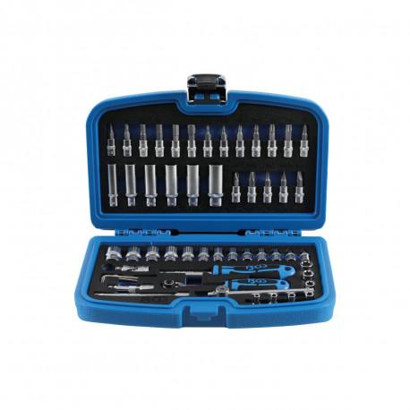 Coffret de douilles et accessoires BGS TECHNIC - 6,3 mm - 53 pcs - 2148
