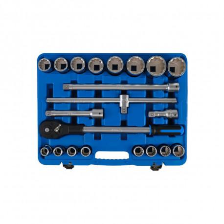 """Coffret de douilles douze pans et accessoires BGS TECHNIC - 20 mm (3/4"""") - 21 pcs - 1223"""
