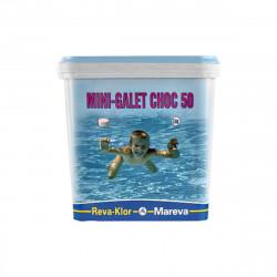 Mini galets de chlore MAREVA traitement choc pour piscine - 5 kg - 125 g - 1002091