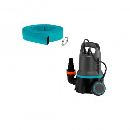Pack GARDENA Pompe d'évacuation d'eau 300W - tuyau de refoulement 10m