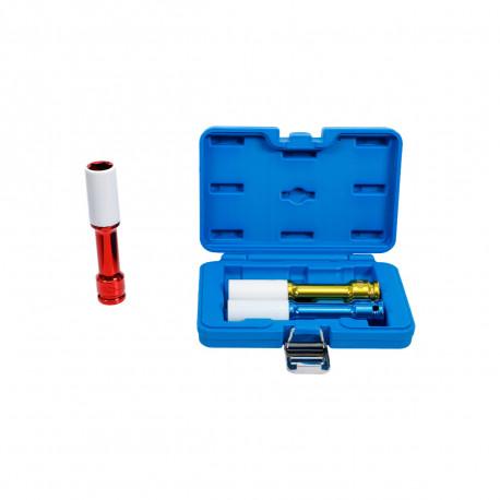 Coffret de douilles à choc extra longues avec protection BGS TECHNIC - 12,5 mm - 3 pcs - 7100