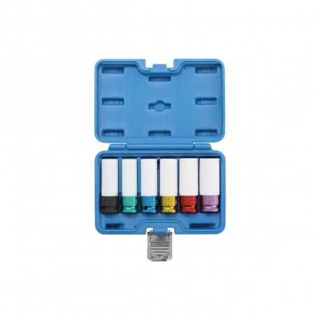 Coffret de douilles à choc avec protection BGS TECHNIC - 12,5 mm - 6 pcs - 7307