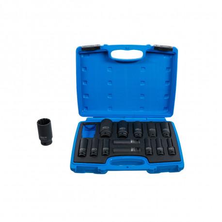 Coffret de douilles à choc Gear Lock BGS TECHNIC - 12,5 mm - 14 pcs - 5209