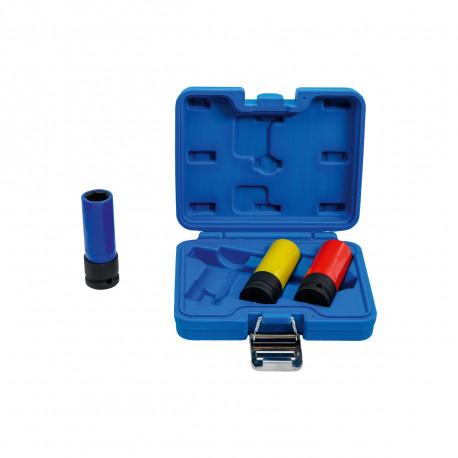 Coffret de douilles à choc avec protection BGS TECHNIC - 12,5 mm - 3 pcs - 7300