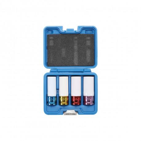 Coffret de douilles à choc avec protection BGS TECHNIC - 12,5 mm - 4 pcs - 9847