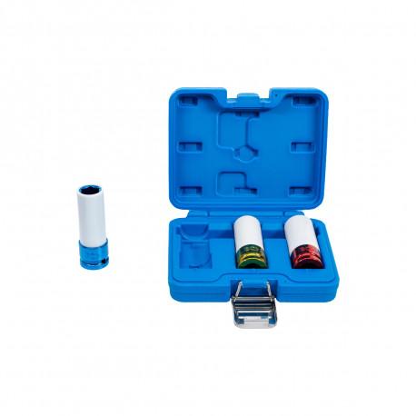 Jeu de douilles à choc avec protection BGS TECHNIC - 12,5 mm - 3 pcs - 7200