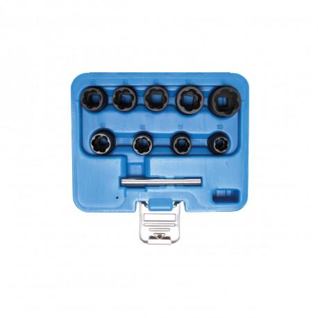 Coffret de douilles spiralées BGS TECHNIC - extracteur de vis - 10 mm - 10 pcs - 5265